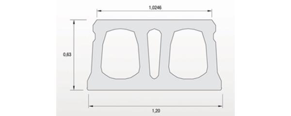 Placa alveolar LP-63 Precat 1